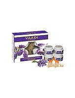 Набор по уходу за кожей с лавандой (Lavender anti-ageing spa Facial Kit VAADI Herbals), 70 гр