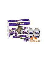 Набор по уходу за кожей с лавандой (Lavender anti-ageing spa Facial Kit VAADI Herbals), 70 гр