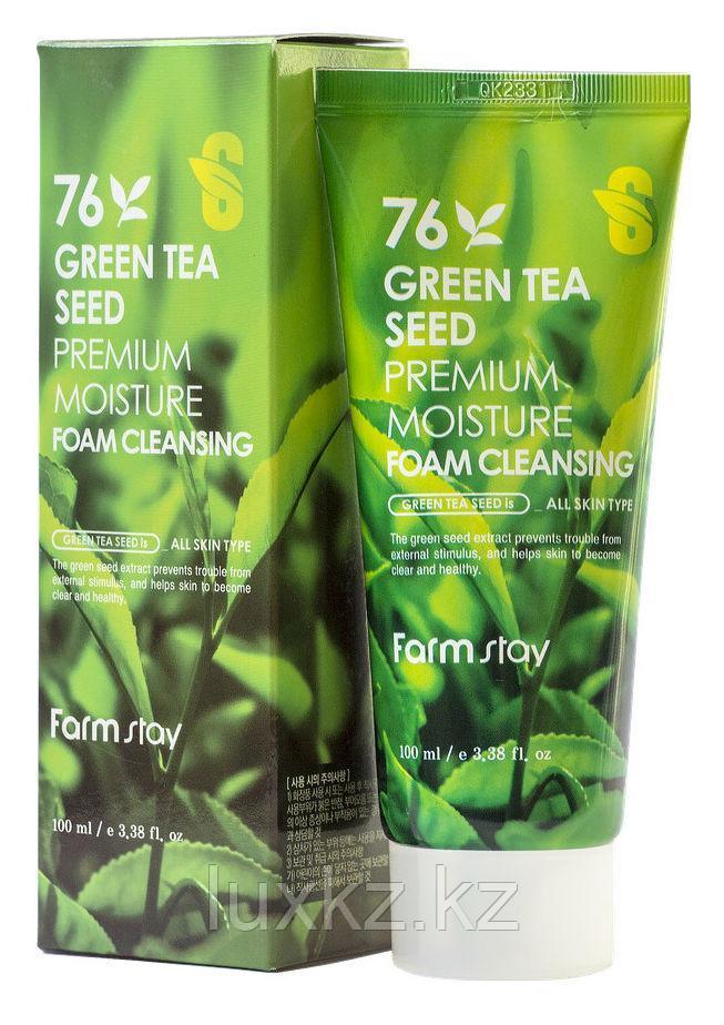 Пенка для умывания с экстрактом зеленого чая от FarmStay