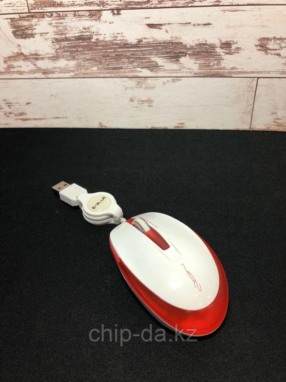 Проводная мышь для ноутбука E- blue ems110wh