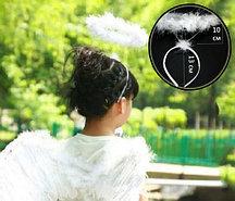 Ободок Нимб ангела (белый)