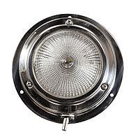 Светильник каютный, одна лампа, 12 В, 10 Вт, D110 мм 10702