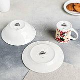 """Набор посуда """"Disney. Минни"""", 3 предмета: кружка 240 мл, миска 18 см, тарелка 19 см, в подарочной упаковке, фото 3"""