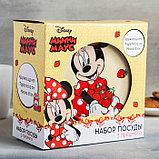 """Набор посуда """"Disney. Минни"""", 3 предмета: кружка 240 мл, миска 18 см, тарелка 19 см, в подарочной упаковке, фото 4"""