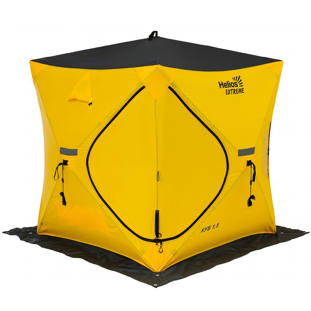 Палатка зимняя КУБ EXTREME 1,5х1,5 v2.0 (широкий вход) Helios 171395 - фото 2