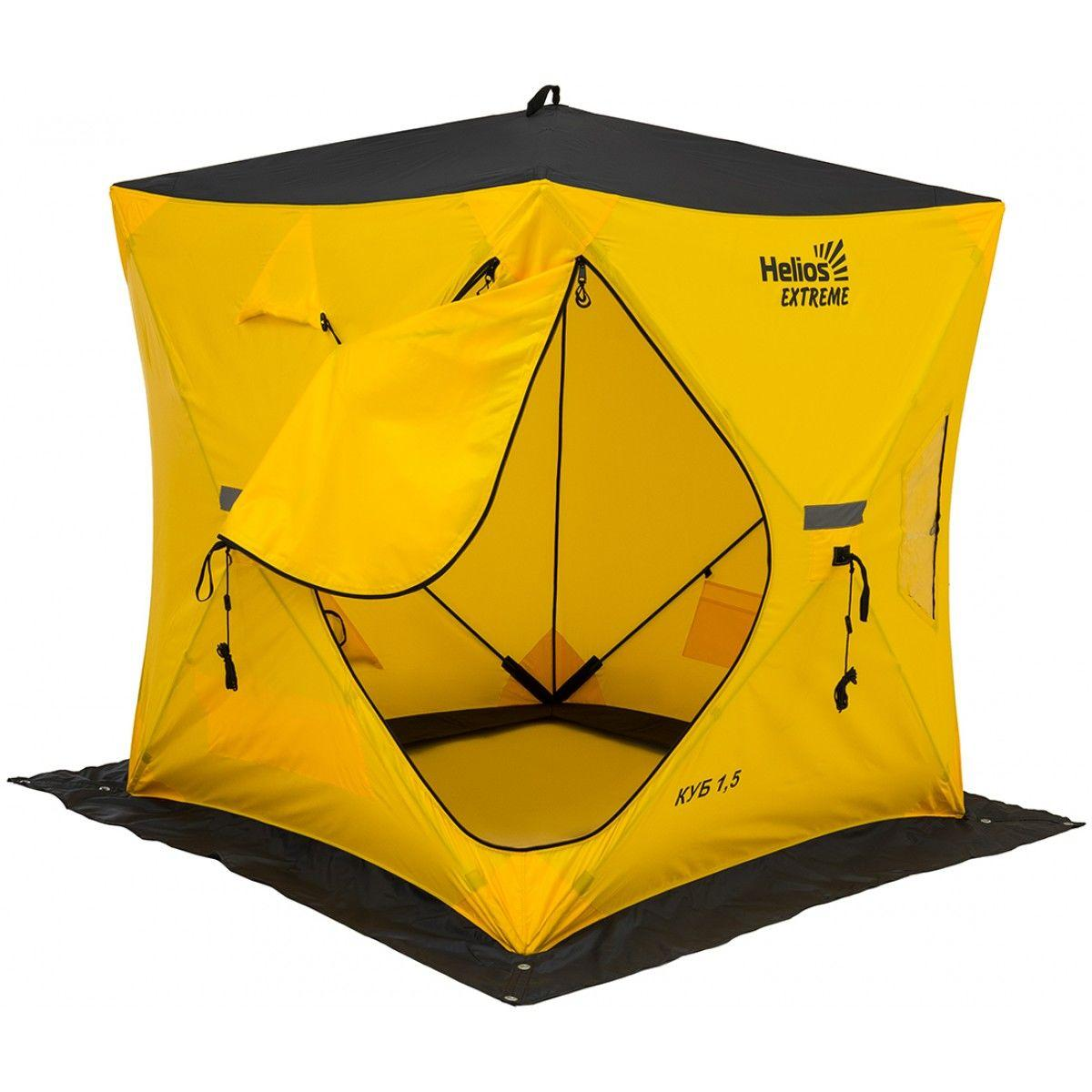 Палатка зимняя КУБ EXTREME 1,5х1,5 v2.0 (широкий вход) Helios 171395 - фото 9