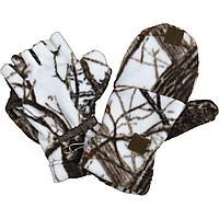Варежки-перчатки (белый лес) (732-4) (M-L) ХСН  tr-47905