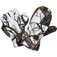 Варежки-перчатки (белый лес) (732-4) (XL-XXL) ХСН  tr-50744