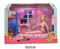 BLD 136 Спальня для барби Bedroom Kaibibi 39*30см