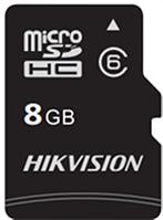 Флеш-накопитель Hikvision HS-TF-C1/8G  Карта памяти  HIKVISION, microSDHC, 8GB, Class10, более 300 циклов