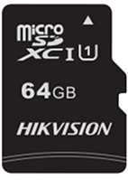 Флеш-накопитель Hikvision HS-TF-C1/64G  Карта памяти  HIKVISION, microSDHC, 64GB, Class10, более 300 циклов