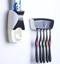Диспенсер зубной пасты автоматический + держатель 5 щеток Homsu (Розовая пантера), фото 2