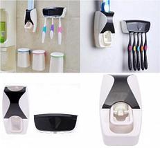 Диспенсер зубной пасты автоматический + держатель 5 щеток Homsu (Розовая пантера), фото 3