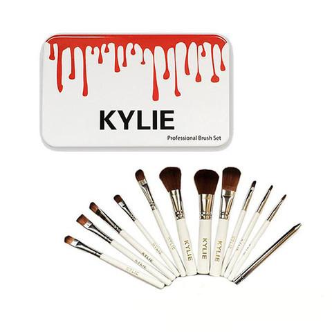 Набор из 12 кистей для макияжа KYLIE в металлическом боксе