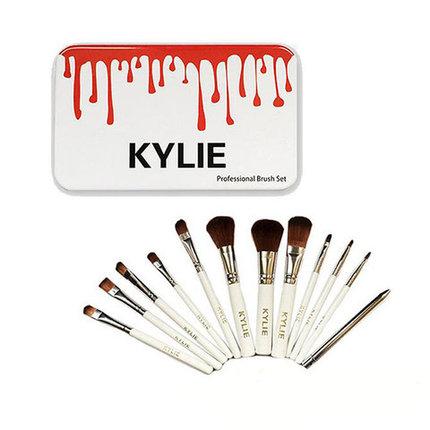 Набор из 12 кистей для макияжа KYLIE в металлическом боксе, фото 2