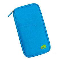 Органайзер путешествинника для документов и смартфона (Голубой), фото 3
