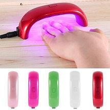 Лампа LED для сушки гель-лака LuazON {LED, 9 Вт, USB, компактная} (Красный), фото 3