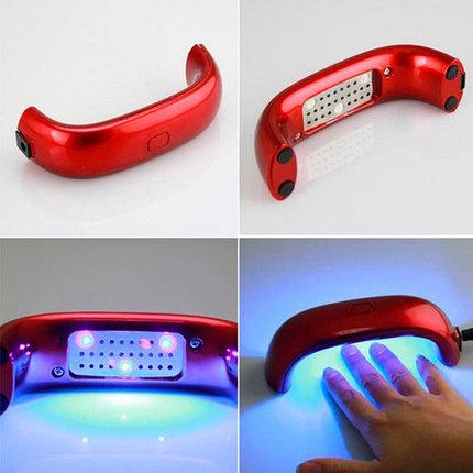 Лампа LED для сушки гель-лака LuazON {LED, 9 Вт, USB, компактная} (Красный), фото 2