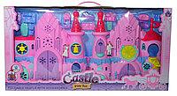 8230-5 Замок с принцем и принцессой розовый Castle Fordale 66*34см