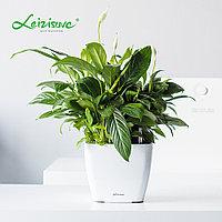 Кашпо для цветов с автополивом Leizisure HG-3109, 17,5x17,5x15 см, белый