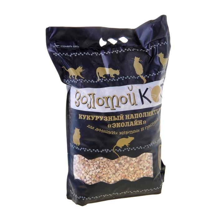 Кукурузный наполнитель для животных Золотой Кот