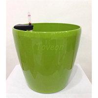 Кашпо для цветов с автополивом Leizisure HG-3101, 21,5/16,5x20 см, зеленый