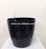 Кашпо для цветов с автополивом Leizisure HG-3101, 21,5/16,5x20 см, черный, фото 1