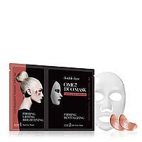 OMG! Duo Mask Rose Gold 1ea  Фольгированные патчи «Розовое золото» и Маска-желе «Упругость и ревитализация»