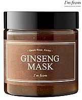 I'm from Ginseng Mask 110g смываемая маска, содержащая 3.97% натурального красного женьшеня.