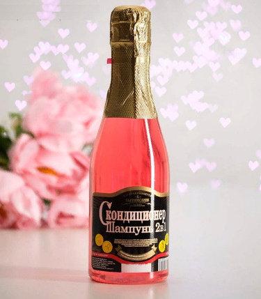 """Шампунь-кондиционер для волос 2в1 """"Розовое Шампанское"""" для кристального блеска, 450 мл, фото 2"""