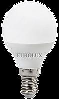 Лампа светодиодная LL-E-G45-7W-230-4K-E14 Eurolux