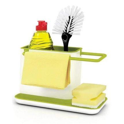 Органайзер-подставка для моющих средств кухонный 3-в-1, фото 2