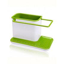 Органайзер-подставка для моющих средств кухонный 3-в-1, фото 3