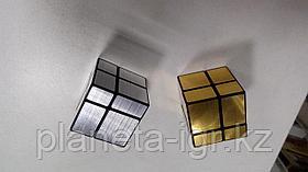 Кубик зеркальный 2х2 шенгшоу серебро или золото