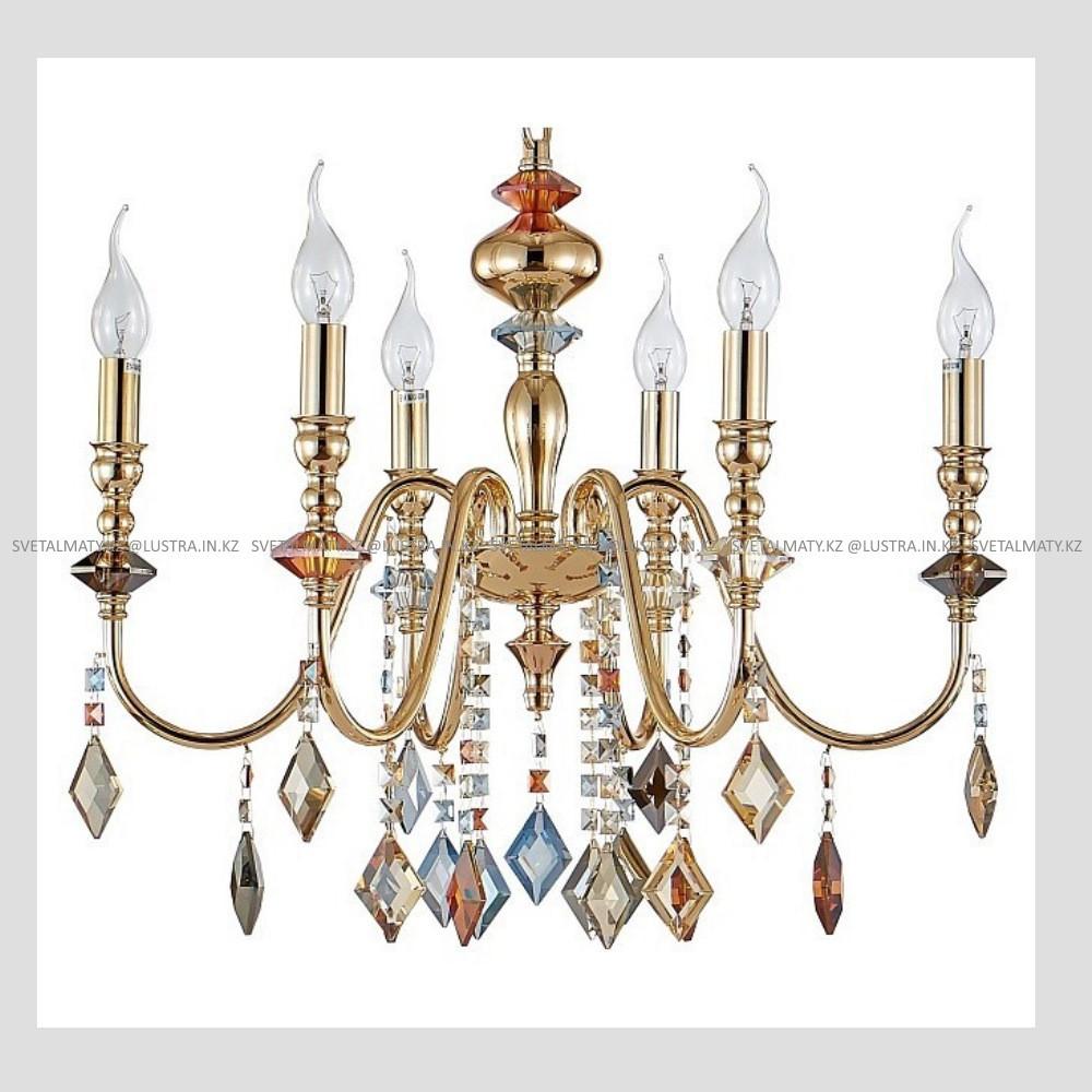 Хрустальная подвесная люстра на 6 ламп