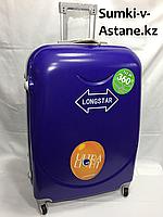 Большой пластиковый дорожный чемодан на 4-х колесах. Высота 74 см, длина 45 см, ширина 27 см., фото 1