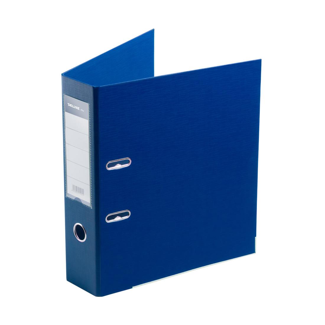 Папка–регистратор с арочным механизмом Deluxe Office 3-BE21 (70 мм, А4, Синий)