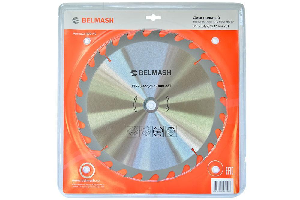 BELMASH 315х3,4/2,2х32ММ 28Т Диск пильный