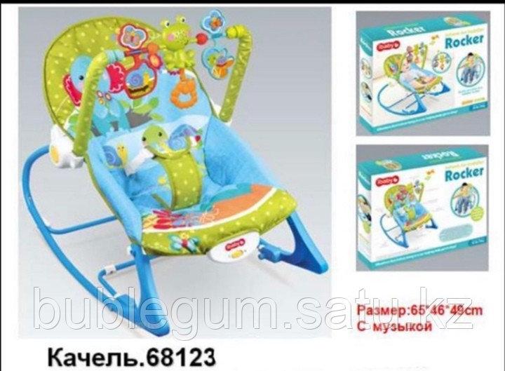 Детский шезлонг-качалка iBaby 68123 (аналог Fisher price)
