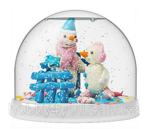 Набор Создай Волшебный шар со снегом Снеговики, фото 2