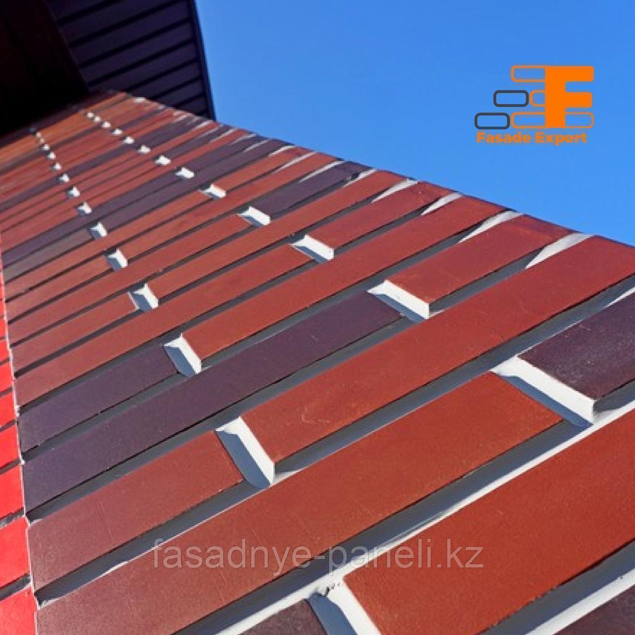 Угловая термопанель под кирпич Fasade-EXPERT, с утеплителем 30мм - фото 7
