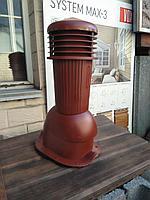 Вентиляционный выход К94 D 125 мм Н 500 мм с проходным элементом для кровли из  металлочерепицы