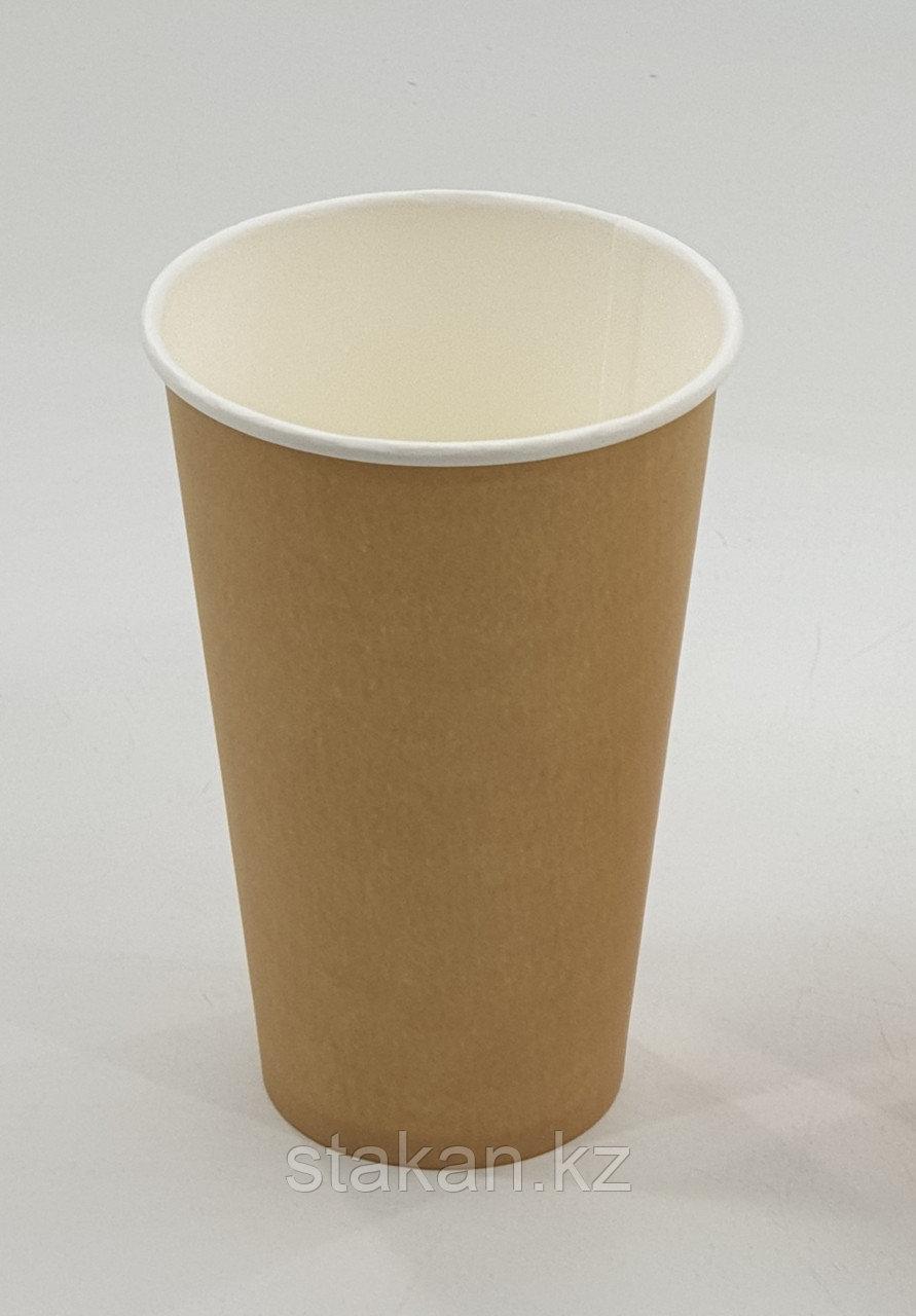 Бумажный стакан, 400мл, крафт, однослойный