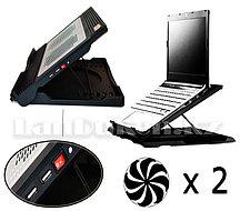 Охлаждающая подставка кулер для ноутбука JM Maxpro с 6 положениями и поворотом на 360° (JM-201129)