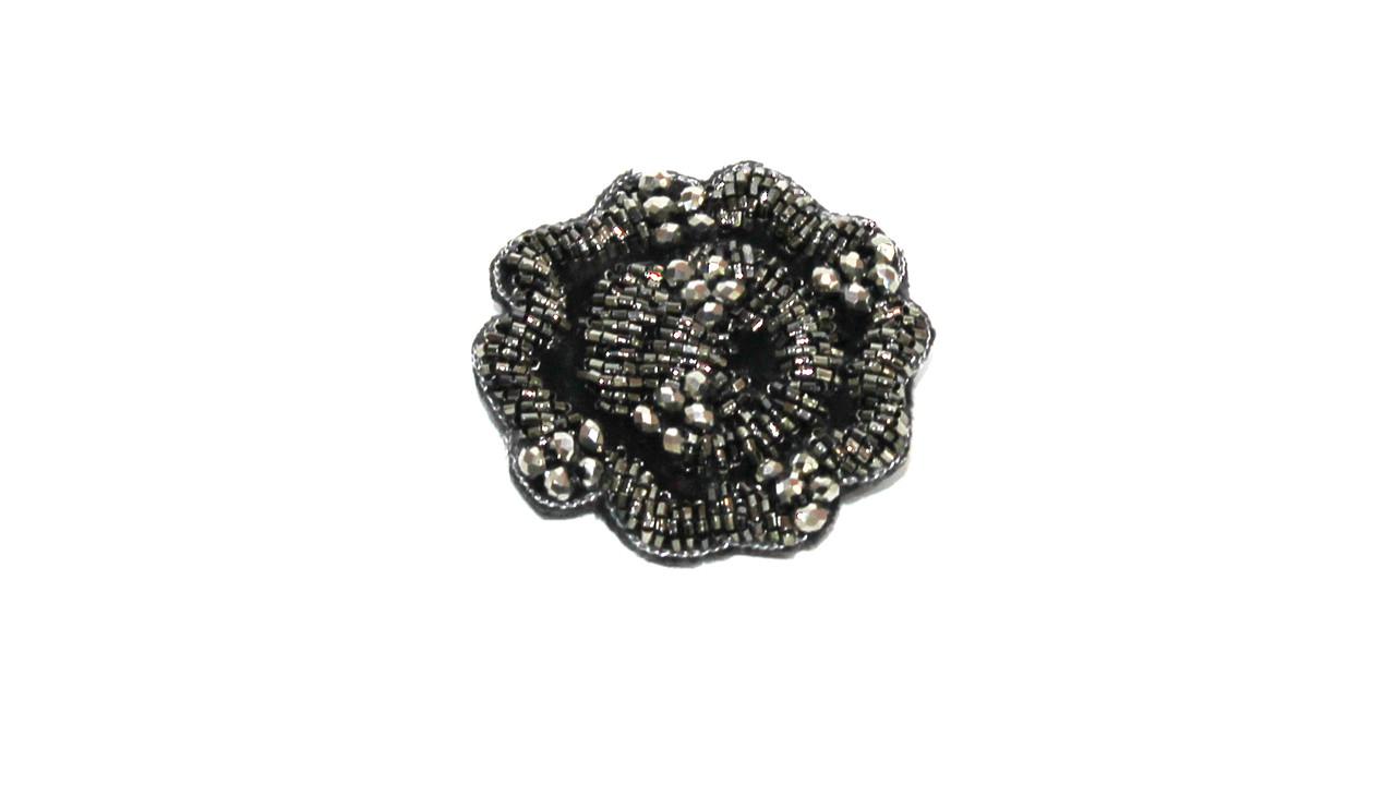 Брошь  Brosh Jewellery  ручной работы (серый)