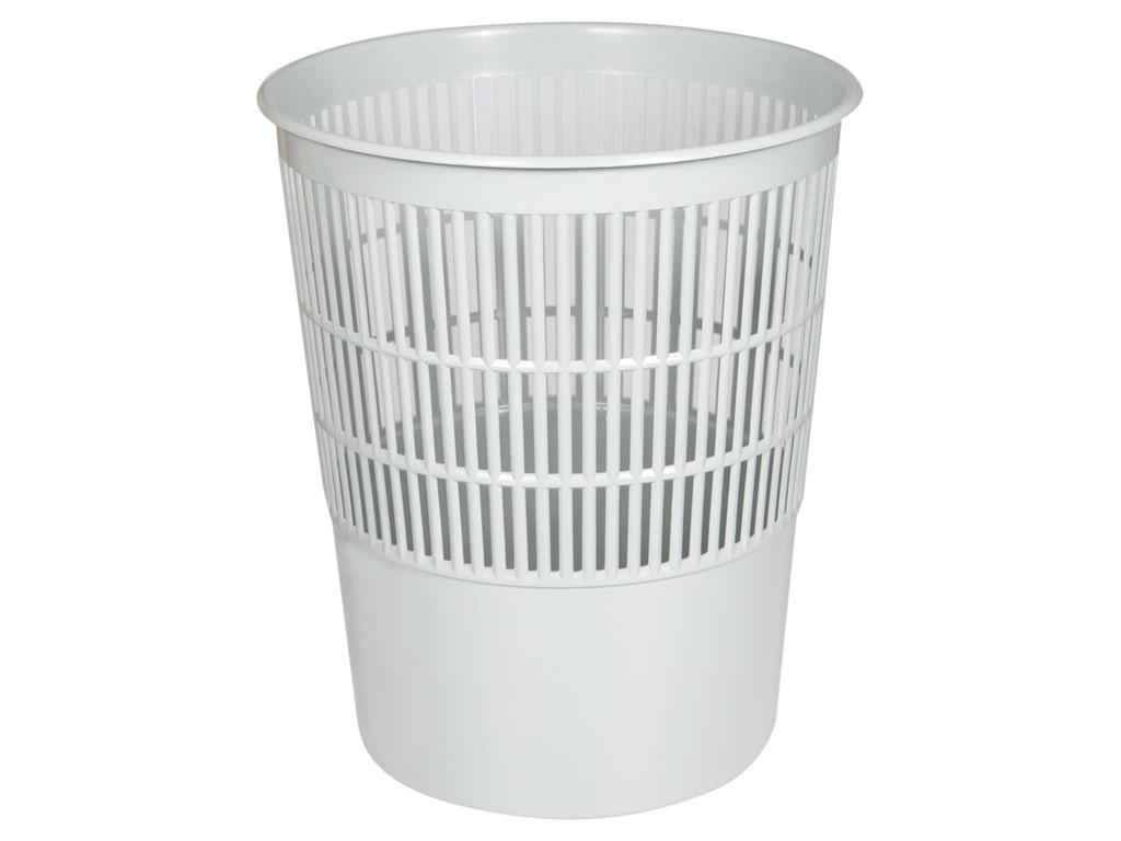 Корзина для мусора OfficeClean 14 литров, сетчатая, серая