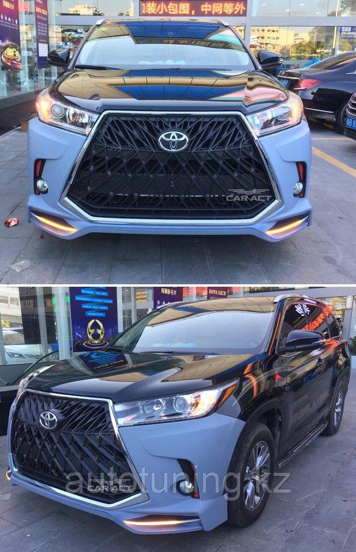 Обвес в стиле TRD Superior на Toyota Highlander XU50 2017-2020 г.  Тюнинг дизайн LX SUPERIOR Тойота Хайлендер