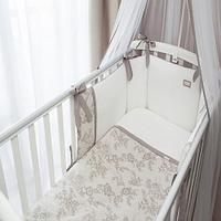 Комплект в кроватку Perina Elfetto 6 предметов Молочно-Белый