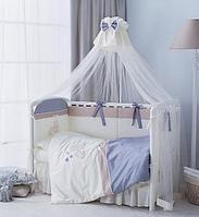 Комплект в кроватку Perina Котята Лазурь 4 предмета, фото 1