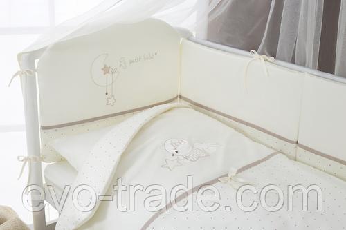 Постельное белье Perina Le Petit Bebe Молочно-кофейный 4 предмета